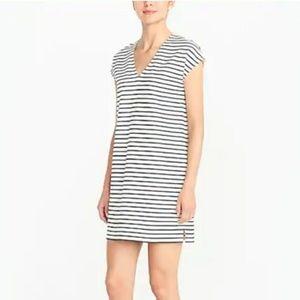 J. Crew Striped V Neck Dress M